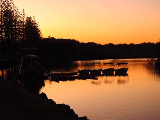 sunset at bruns